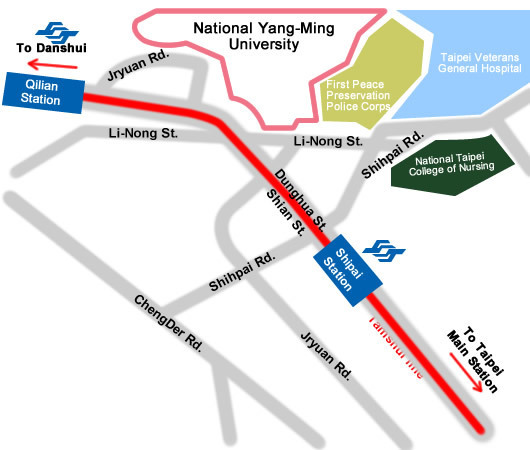 Map to National Yang-Ming University